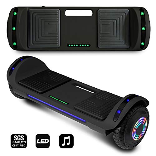 CHO POWER SPORTS 2020 Electric Hoverboard UL Certified Hover Board Electric Scooter with Built in Speaker Smart Self Balancing Wheels (Black)