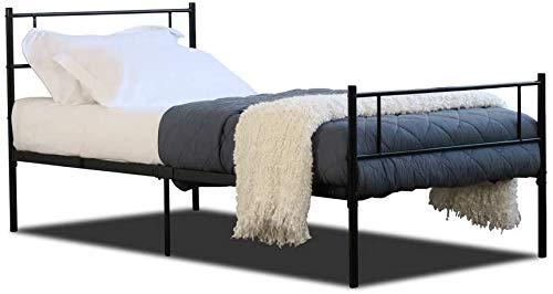 Erwachsene Schlafzimmermöbel, Metallrahmen, Ersatzraum Doppel feste Metallstruktur,Black