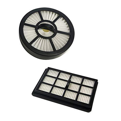 ECODE Set de 2 filtros HEPA Recambios para Aspirador Absolut Multi-Cyclone ECO-370 Filtro Circular + Filtro Rectangular