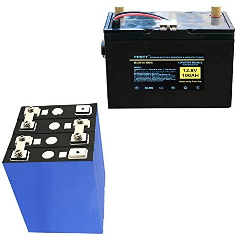 Paquete de Baterías de 12.8V 100Ah LIFEPO4 12V LIFEPO4 BATERÍA DE LIGHTIO 100AH ??LIFEPO4 BATERÍA DE FOSFATO DE HIERRO DE BATERÍA CON CARGADOR 10A (12v120ah+200×152×275mm)