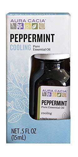 Aura Cacia 100% Pure Peppermint Essential Oil | GC/MS Tested for Purity | 15 ml (0.5 fl. oz.) in Box | Mentha piperita