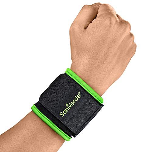 SaniVerde® Handgelenk Bandage mit Klettverschluss - Stabilisation der Handgelenke bei Fitness und Belastungen, Handgelenkbandagen für Damen & Männer