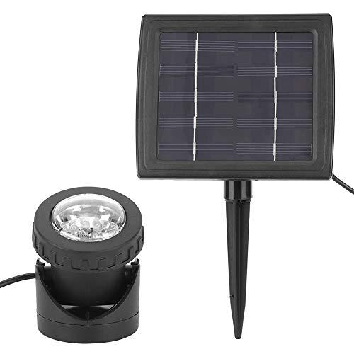 Luz subacuática, hecha de ABS 7.5 x 5,5 cm Foreado de 3.7V Batería de la pared con energía solar para las fuentes de la piscina