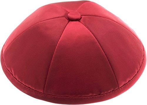Rimmon Judaica - Kippah in raso con 6 sezioni Rosso M