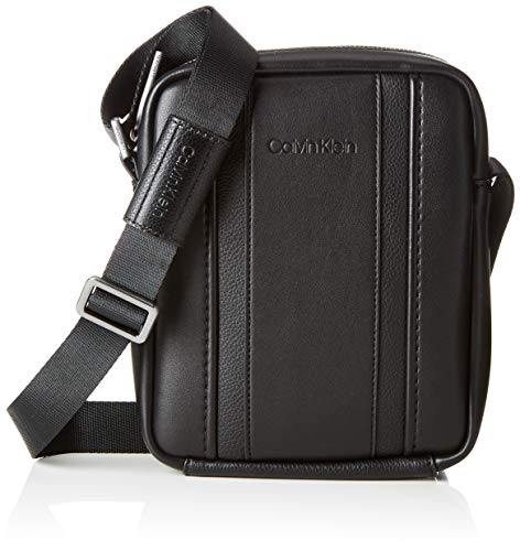Calvin Klein - Essential 1 G Ipad Mini Reporter, cartera Hombre, Negro...