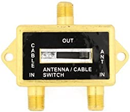 Cable N Wireless Gold Plated Coaxial A/B Switch for Splite TV Antenna HDTV Cable 2 Way Digital Optical Coax Splitter (US Seller)