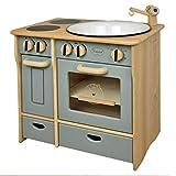 Unbekannt Drewart Kinderküche Landhaus, grau-grün - Spielküche aus Holz - Küche für Kinder