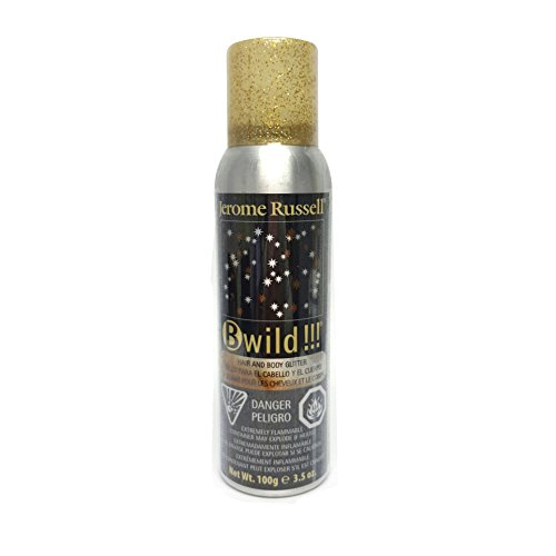 B-wild Hair and Body Glitter Spray Gold+silver 3.5 Oz1 Can