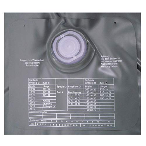 ABBCO Kuss Wassermatratze - Wasserkern Mesamoll II Softside für Duales WB 180x220 cm F8 = kein Nachschwingen, Ultra beruhigt