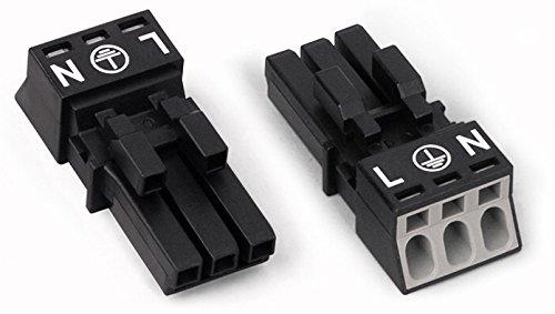 Wago 890-203 Drahtverbinder schwarz - 16A, RoHS, 3,74g, 15mm, 34,1mm