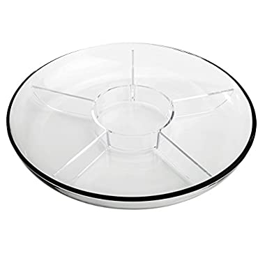 Anchor Hocking Presence 3-Piece Multi-Use serving Tray-Deep Serving Tray with Egg Insert and Veggie Insert