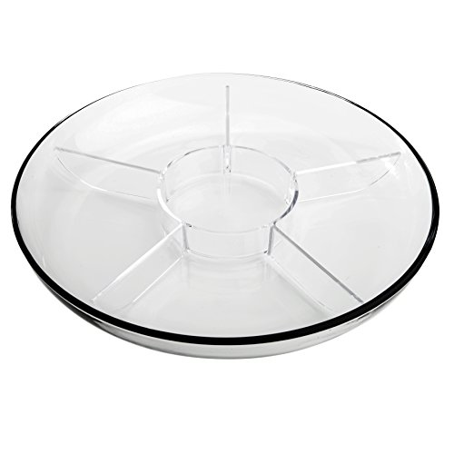 Anchor Hocking Presence Serving Tray, Crystal clear