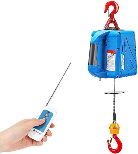 NEWTRY 661LBS Elektrische Seilwinde Elektrischer Hebekran 220 V, 11.8 m, 1500 W, kabellose Fernbedienung, Überkopfhebung, Überlastschutz (Traglast 300 KG)
