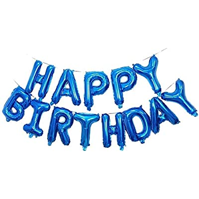 Happy Birthday Balloons Banner 16 Inch Foil Let...