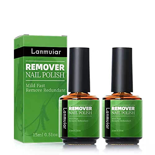 Gel Nail Polish Remover, (2pack) Gel Polish Remover, finger nail Professional Easily Quickly Removes Soak-Off Gel Polish, Quickly Easily, Don't Hurt Your Nails Natural,Gel,Sculptured Nails-15ml