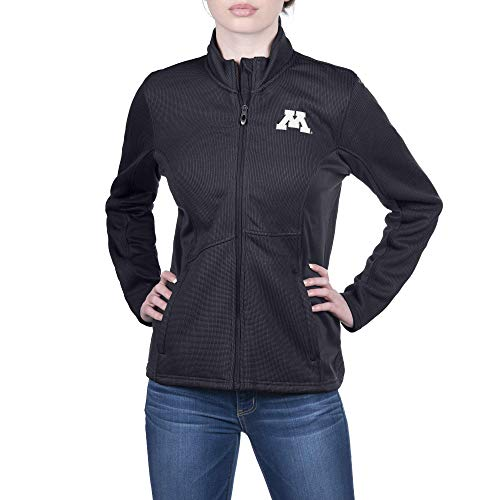 Spyder Damen Sweater Constant Full Zip Sweater Gameday Jacke, Damen, Constant Full Zip Sweater Gameday Jacket, Minnesota Golden Gophers Schwarz, Medium