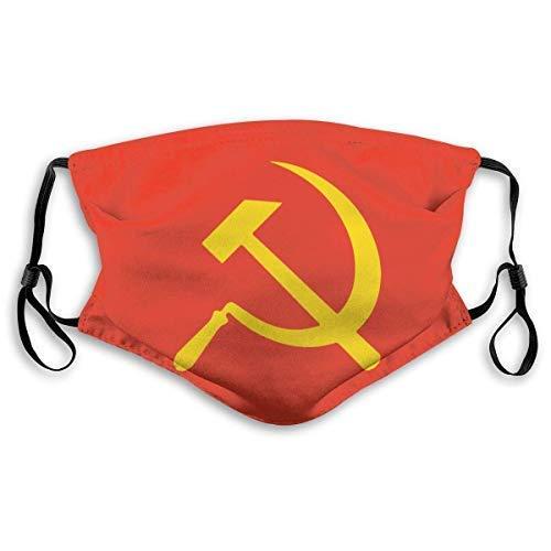 Mundschutz Soviet Union Flag Mouth Cover Face Cover Dust-Proof Sunscreen Turban Headdress Mouth Scarf with Reusable Austauschbaren Filter