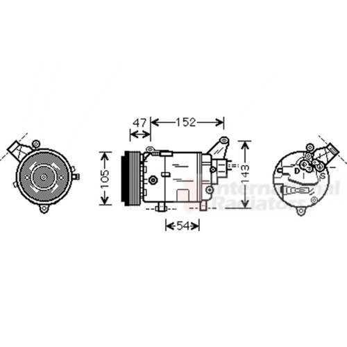 VAN WEZEL 0600K076 Montaggio Aria condizionata