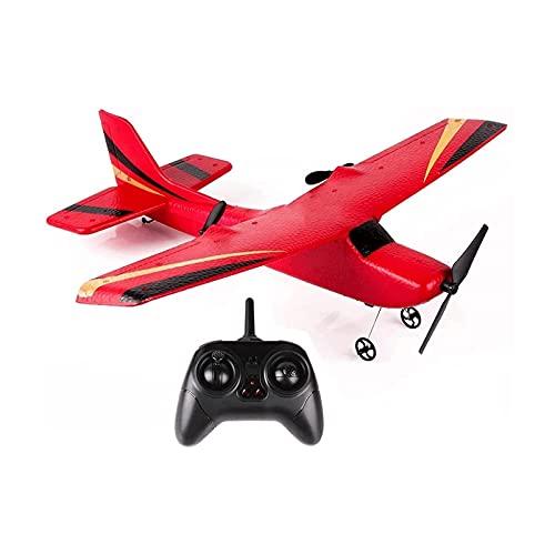 HKJZ SFLRW 2. CH RC Aereo, RC. Aereo, 2.4GHz Telecomando Aereo, Facile da pilotare RC. Glider per i Bambini e Principianti (Red)