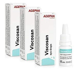 Viscosan Lágrimas Artificiales con Hipromelosa | Hidratan Rápidamente los Ojos Secos | Libres de Aceites Minerales y Petróleo | Duraderas y Naturales