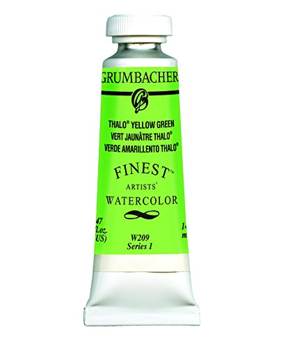 Grumbacher Finest Watercolor Paint, 14 ml/0.47 oz, Thalo Yellow Green