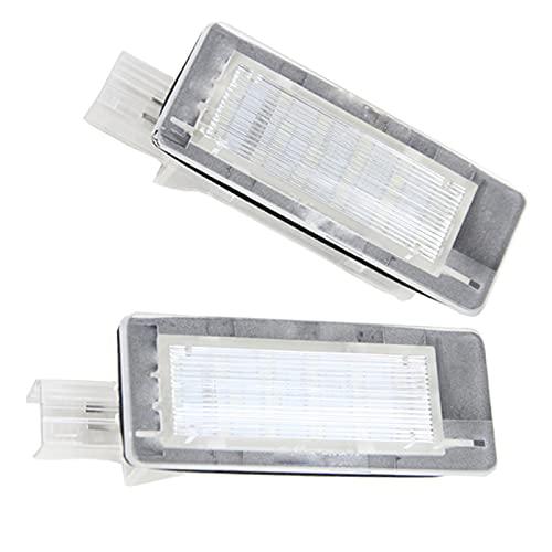 WYYUE LED Número de matrícula Lámpara de luz 2 Piezas Luz LED de matrícula de Coche Ensamblajes Compatible con Renault Fluence Clio III Laguna II III Scenic II III 5d latitud Captur Zoe