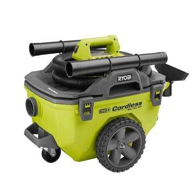Ryobi 18-Volt ONE+ 6 Gal. Cordless Wet/Dry Vacuum (Bare-Tool) with Hose, Crevice Tool, Floor Nozzle and Extension Wand BATTERY NOT INCLUDED