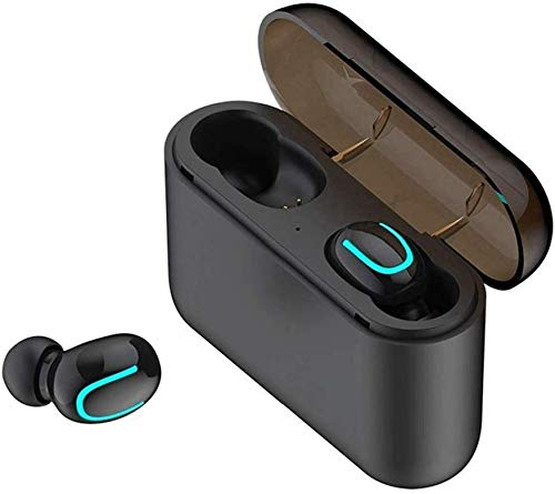BIGFOX Auricolari Bluetooth,Cuffie Bluetooth 5.0,Auricolari Wireless Bluetooth Senza Fili Stereo TWS per iPhone Samsung Xiaomi Huawei Sony (Q32)