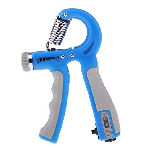 perfeclan Einstellbar Unterarmtrainer Handtrainer Fingertrainer Handgriff Handübungen Hand Finger Trainingsgerät für Herren Damen - Blau