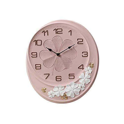 wall clock Rétro Horloge Murale trèfle à Quatre Feuilles Horloge à Quartz muet décoration Salle d'étude Bureau Chambre