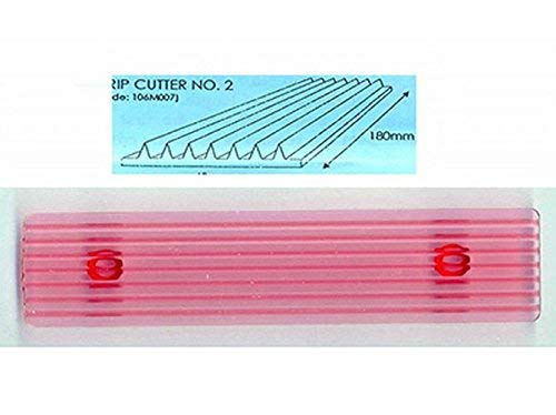 JEM Fondant Strip Cutter no 2 for Cake Decorating 7 x 15-inches