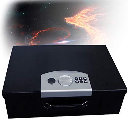 TBDLG Caja Fuerte portátil,Caja Fuerte Digital para Llaves,Seguro de presión Anti-aplastamiento con Hogar, Hotel,Empresa 45 * 32 * 13CM