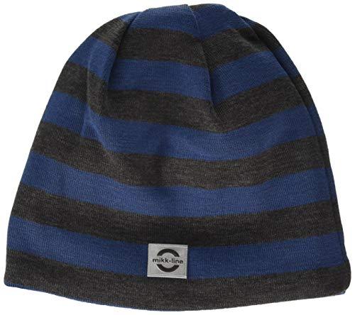 mikk-line baby-jongens wol gestreepte muts, meerkleurig (dark blue 270), 51/53 (fabrikantmaat: 98/104)