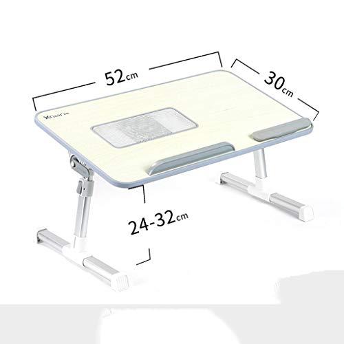 MSF Table Pliante Lit Ordinateur de Bureau, Petite Table de Lecture, Lecture de lit, dortoir, Table Pliante, Levage, étudiants, Support de Bloc-Notes Multifonctionnel (Couleur : C)