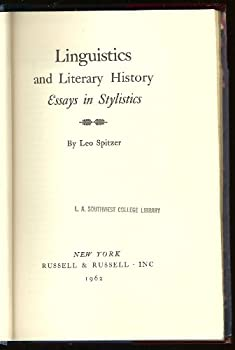 Hardcover Linguistics and Literary History: Essays in Stylistics, Book