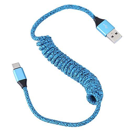 Dpofirs Cable USB C en Espiral, Cable USB de Resorte portát