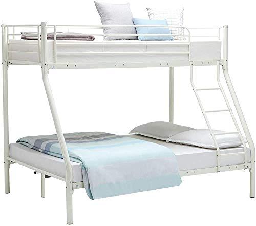 Dormitorio doble armazón de la cama litera marco de metal,White