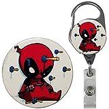 Superhero Real Charming Retractable Metal Carabiner ID Badge Holder Badge Reel (Dead Chibi MC)