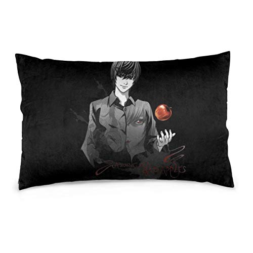 YudoHong D-eath N-ote Anime Red Black Cushion Covers Throw Pillow Covers Cases for Couch Sofa Home Decor