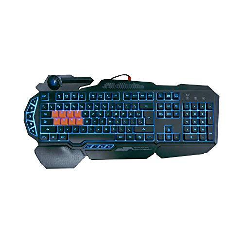 Bloody B318 8-Key Light Strike (LK) Semi Optical Mechanical Gaming Keyboard – 9 Dedicated Macro Keys - 3 Color LED Backlit – 8 LK Black Switch