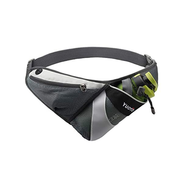 YUOTO Waist Pack with Water Bottle Holder for Running Walking Hiking Runners Hydration...