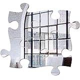 BESLIME Adesivi Murali Specchio Puzzle, 4 Adesivi Murali Specchio 3D, Adesivi Murali Specchio Acrilico Decorazione Fai da Te, Usati per Soggiorno Camera da Letto TV Decorazione Murale Decalcomanie