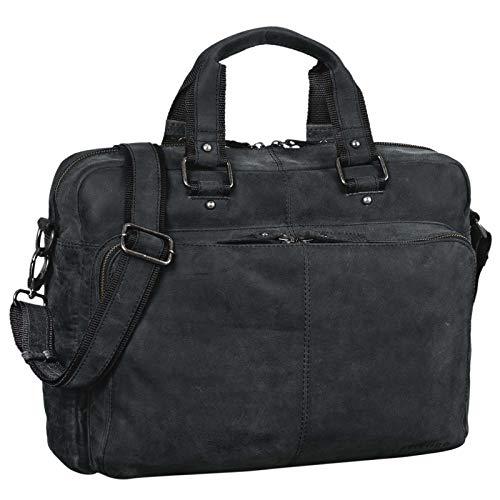 STILORD 'Gero' Vintage Ledertasche Herren braun groß 14 Zoll Laptoptasche Umhängetasche...