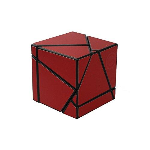 Wings of wind - Ghost Cube Black Body DIY Nuevo Cubo de la Magia de la Velocidad de la Etiqueta, Cubo del Rompecabezas del Fantasma 2x2x2 (Rojo)