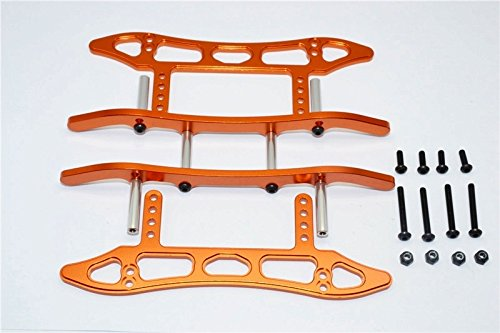 Axial SCX10 Upgrade Pièces Aluminium Chassis Sled Guard (New) - 1Set Orange