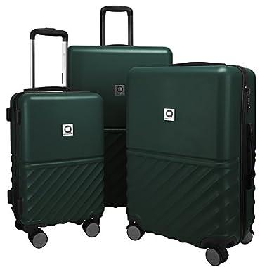 "Hauptstadtkoffer Boxi Luggage Set 3 Piece Lightweight Suitcase Spinner (20"", 24"" & 28"") TSA, Darkgreen"