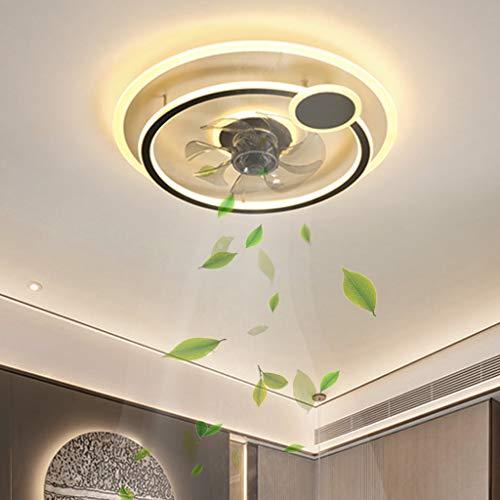 Ventilador de techo LED Lámpara de ventilador silencioso Iluminación de ventilador de techo y para ventiladores de techo de habitación interior con aspas de luz Lámpara de ventilador de control remoto