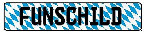 Motiv Schild | Fun Schild | Wunschkennzeichen | Namensschild | Fun Kennzeichen | 520x110 mm | verschiedene Motive | Funschilder individuell mit Wunschtext gestaltbar für wenig Geld (Bayern Raute)