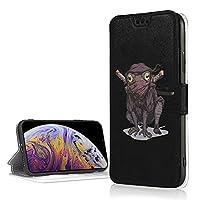 Iphone Xr ケース 面白い カエル 浪人 アイフォン Xr カバー 手帳型 財布型 携帯xrカバー スマホxr ケース カードポケット 耐衝撃 全面保護 スタンド機能付き 柔軟 カード収納 サイドマグネット
