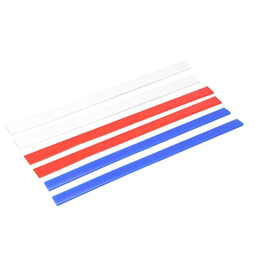 3 Pcs Silicone Rolling Strip Pin Rail Track Bar Leveler Strips Set Perfection Thickness Guides Leveling Device for Pastry Baking Cookies Length 15 inch 2mm 4mm 6mm